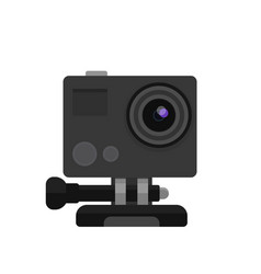 action camera in flat style vector image