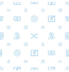 app icons pattern seamless white background vector image