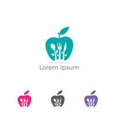 apple icon healthy food weight loss and n vector image
