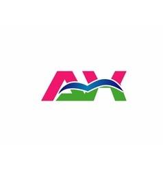 AX initial company group logo vector image