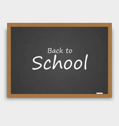 back to school background with blackboard vector image