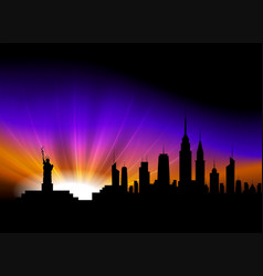 Background with silhouettes of buildings vector