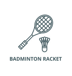 badminton racket line icon badminton vector image