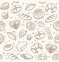 bakery seamless background vector image