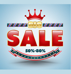 big sale banner for promotion advertising vector image