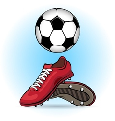 Boots and ball vector image