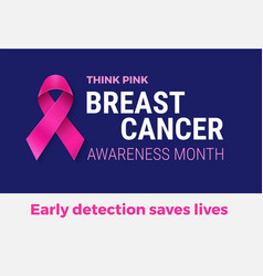 breast cancer awareness month banner - pink vector image