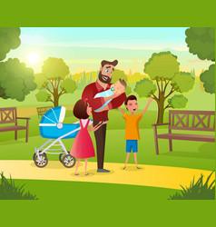Cartoon concept happy family vector