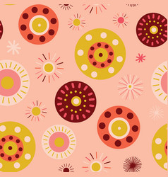 circles collage style seamless background vector image