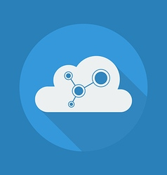 Cloud Computing Flat Icon Social Network vector image