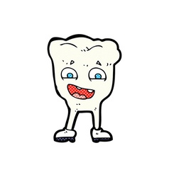 Comic cartoon happy tooth vector