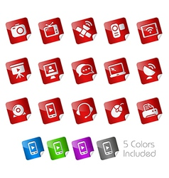 Communications Stickers vector image vector image