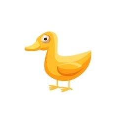 Duck Simplified Cute vector