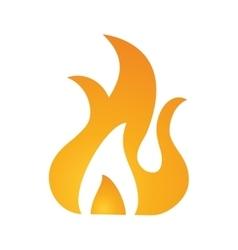 fire flame burn hot design vector image vector image
