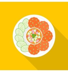 Fish cakes vector image