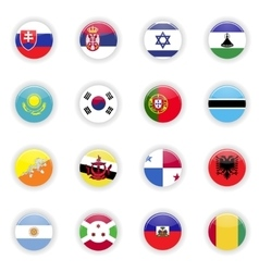 Flags set of the world vector image