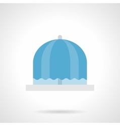 Flowing fountain flat color icon vector image