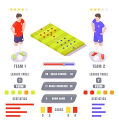 football game statistics ratings vector image
