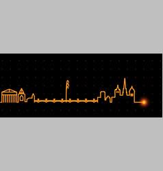 Geneva light streak skyline vector
