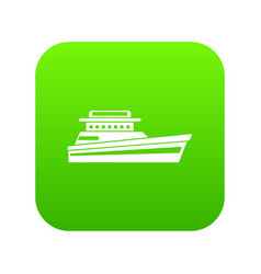 great powerboat icon digital green vector image