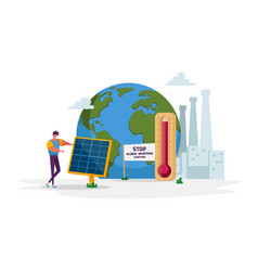 Green energy global warming and environment vector