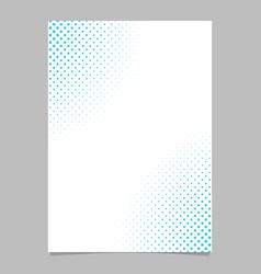 Halftone dot pattern flyer template - brochure vector