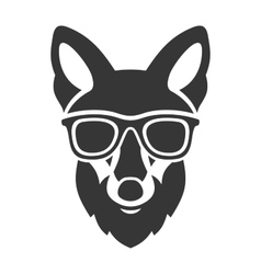Hipster Red Fox Face in Glasses vector
