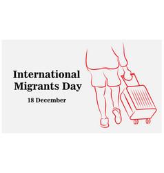 International migrants day global migration vector