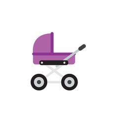 isolated pram flat icon stroller element vector image