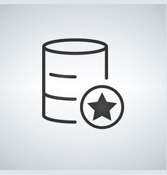 linear database server isolated flat web mobile vector image