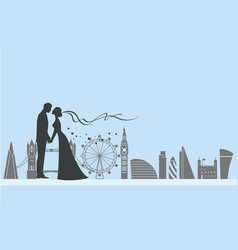 London wedding and love vector