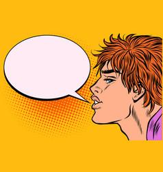 man says comic bubble vector image