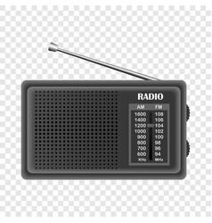 Modern fm radio mockup realistic style vector