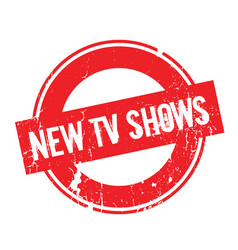 New tv shows rubber stamp vector