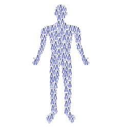 Nippers person figure vector