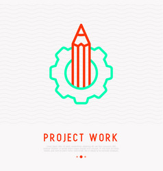 pencil in wheel creativity and innovation vector image