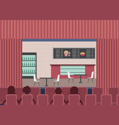 People cinema theater vector