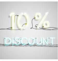Percentage of discount vector