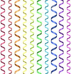 Rainbow serpentine pattern vector image