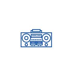 record tape player line icon concept record tape vector image