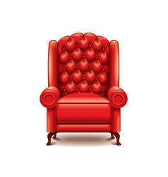red armchair isolated vector image