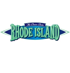 Rhode Island The Ocean State vector image
