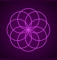 Sacred geometry symbol of harmony vector
