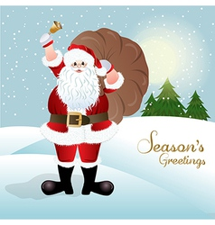Santa Claus greeting card design vector image
