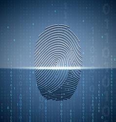 Scanning a fingerprint Technology background vector