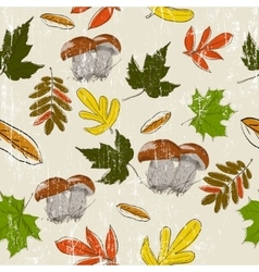 Seamless texture with autumn nature vector image