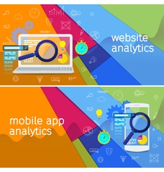 SEO data analysis concept vector