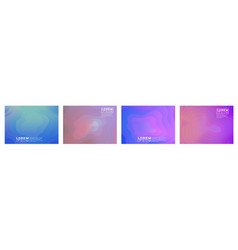 set colorful gradient triangle on white vector image