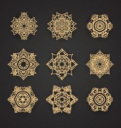 Set of Line Thai art design set vector image