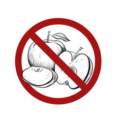 sgn with a drawing an apple with a hatching in vector image